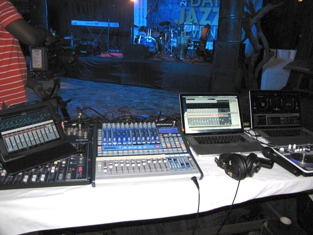 Mixing Desk View